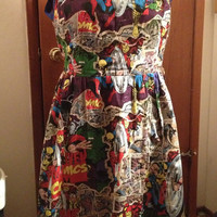 Comic Book Print Dress