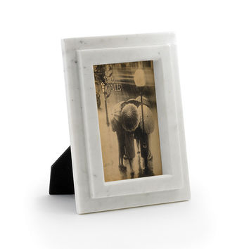 """Eclipse Home Collection Marble Photo Frame 8"""" L  x 10"""" H  · Fits 5"""" x 7"""" photo"""