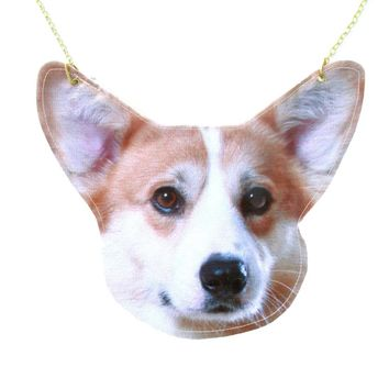 Welsh Corgi Puppy Dog Face Shaped Animal Themed Vinyl Cross Body Shoulder Bag