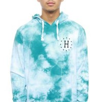 Huf, 12 Galaxy H Wash Pullover Hoodie - White/Jade - Sweatshirts / Hoodies - MOOSE Limited