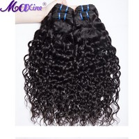 Maxine Hair Brazilian Water Wave 1 Piece 100% Human Hair Weave Bundles Non Remy Hair Extensions 1B Can Be Dyed And Straightened