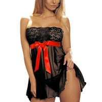 Sexy Plus Size Lingerie Nightwear underwear babydoll black hot