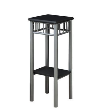 Black / Silver Metal Plant Stand