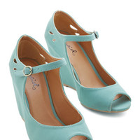 ModCloth Pastel Mind Over Matte Wedge in Sage