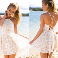Lavish Lace Corset Dress