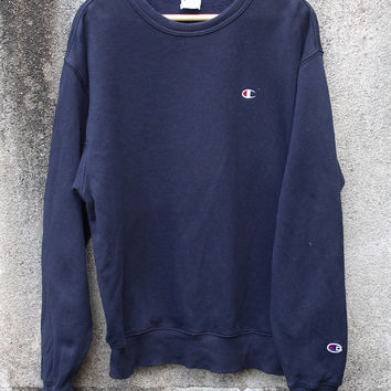 Vintage 90s Champion Sweatshirt Streetwear Swag Hip Hop Pullover Sweater  American Athentic Apparel Size M