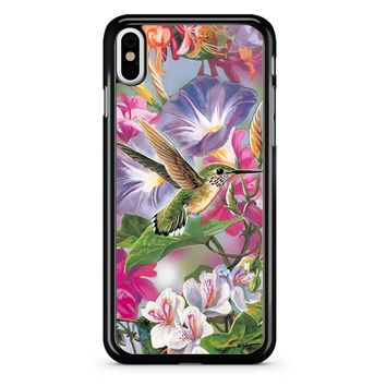 Hummingbirds And Flowers iPhone X Case