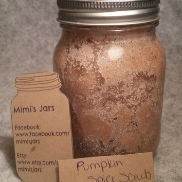 Pumpkin Sugar Scrub, Pumpkin Scrub, Sugar Scrub, Natural Beauty Product, Natural Sugar Scrub, Mason Jar Scrub, Natural Scrub