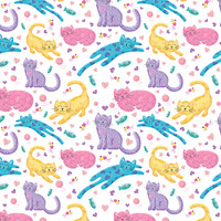 Playful Kittens 02 - noondaydesign - Spoonflower