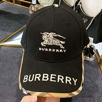 Burberry New fashion embroidery letter war horse cap hat Black