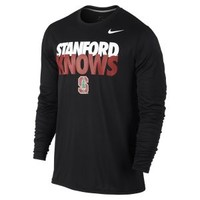 The Nike Knows Legend Long-Sleeve (Stanford) Men's Shirt.