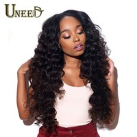 Uneed Peruvian Loose Hair Deep Wave Human Hair Weave (8-26 Inches)