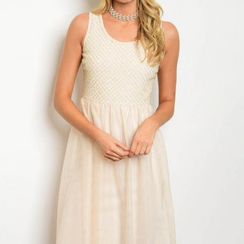 * CREAM TULLE DRESS