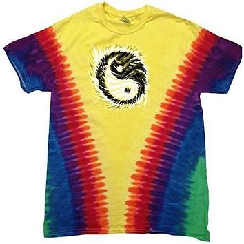 Yoga Clothing for You Mens V-Dye Yin Yang Sun V-dye Tee Shirt