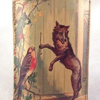Big Bad Wolf Leather iPhone Sleeve iPod Touch case by TinderBloom