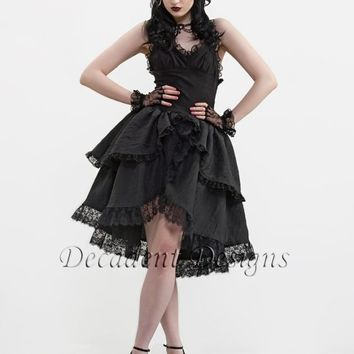 Black Taffeta Ruffle Dress-Small (Last one)