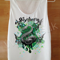 Harry Potter, Slytherin Shirt,awesome shirt,Cool TShirts Custom Handmade Screen Print Funny White Harry Potter Clothing Women shirt SML