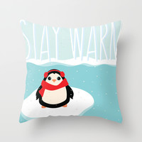 Stay Warm Throw Pillow by Page394