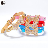 Pretty Bling Rhinestone Pet Dog Collar Chihuahua Pet Supplies Collars for dogs leash Honden Harness sets Cat Puppy pet Collar