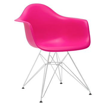 Padget Arm Chair in Fuchsia