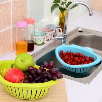 Fruits Vegetables Sink Hanging Drain Basket Holder