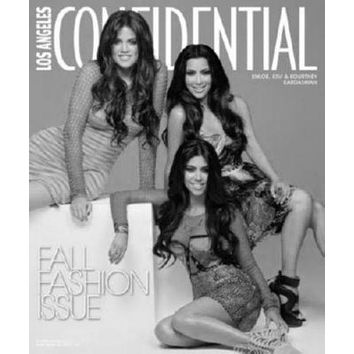 Kardashians Magazine Cover poster Metal Sign Wall Art 8in x 12in Black and White
