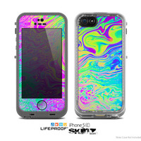 The Neon Color Fusion Skin for the Apple iPhone 5c LifeProof Case