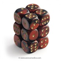Gemini Red-Black 12d6 Dice Set | Awesome Dice