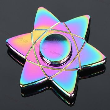 Magic circle Rainbow metal hand Spinner Fidgets EDC fidget spinner metal For Autism spinner fidget Anti Stress Toys R606