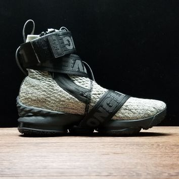 [ Free  Shipping ]Kith x Nike Lebron 15 Long Live the King Collection Concrete  AO1068 100 Running Sneaker