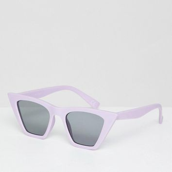 ASOS DESIGN cat eye sunglasses with square frame at asos.com