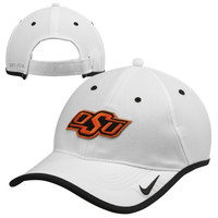 Oklahoma State Cowboys Nike 2014 Coaches Performance Adjustable Hat – White