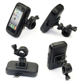 Universal Bicycle Waterproof Phone Case Bag Bike Motorcycle Handle Bar Mobile Phone Stand Holder Mount For iPhone 7 6 6S Plus