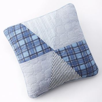 Home Classics Statements Brennan Reversible Quilted Decorative Pillow (Blue)