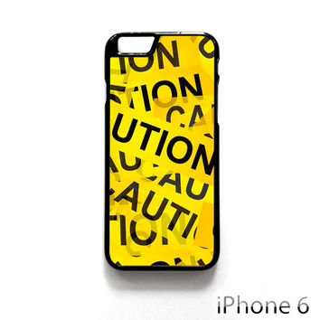 Caution Yellow Tape for Iphone 4/4S Iphone 5/5S/5C Iphone 6/6S/6S Plus/6 Plus Phone case