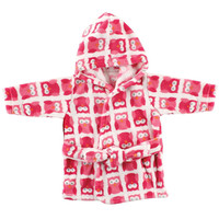 Luvable Friends Coral Fleece Bathrobe - Owl (0 - 9 Months)