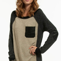 Patchwork Sweater $47
