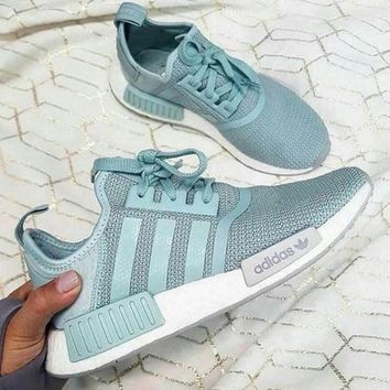 Adidas Women Running Sport Casual Shoes NMD Sneakers - Mint Green