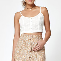 Kendall and Kylie Floral Print Button-Front Skirt at PacSun.com