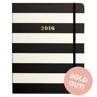 2016 kate spade new york Large Agenda - Black Stripe