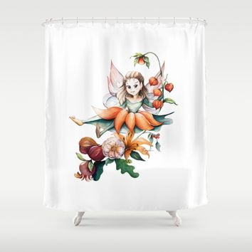 Autumn Fairy Shower Curtain by CW Studio
