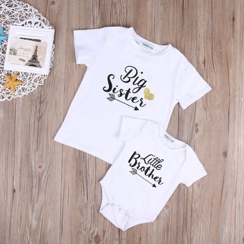 Little Brother Bodysuit and Big Sister T Shirt