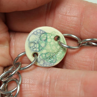 Semicolon bracelet Survivor bubble glaze bracelet purple green blue