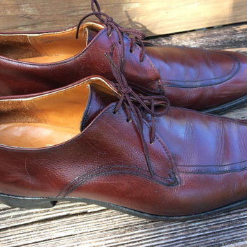 Men's Dress Shoes, Bostonian Leather  Brown Renald Size 10 1/2A