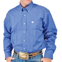 Cinch Men's Blue Pinpoint Oxford Shirt