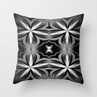 Smoky Flower Throw Pillow by 2sweet4words