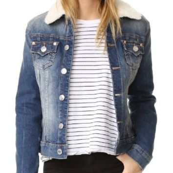 Western Dusty Trucker Denim Jacket