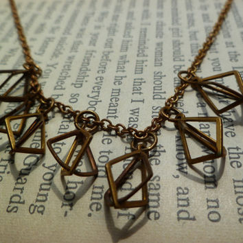 Dripping with diamonds necklace by littlepancakes on Etsy