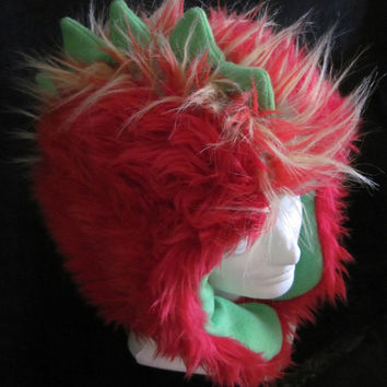 Faux Fur Dino Hat by VictoriaVink on Etsy