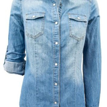 Blakely Harbor Denim Button Up
